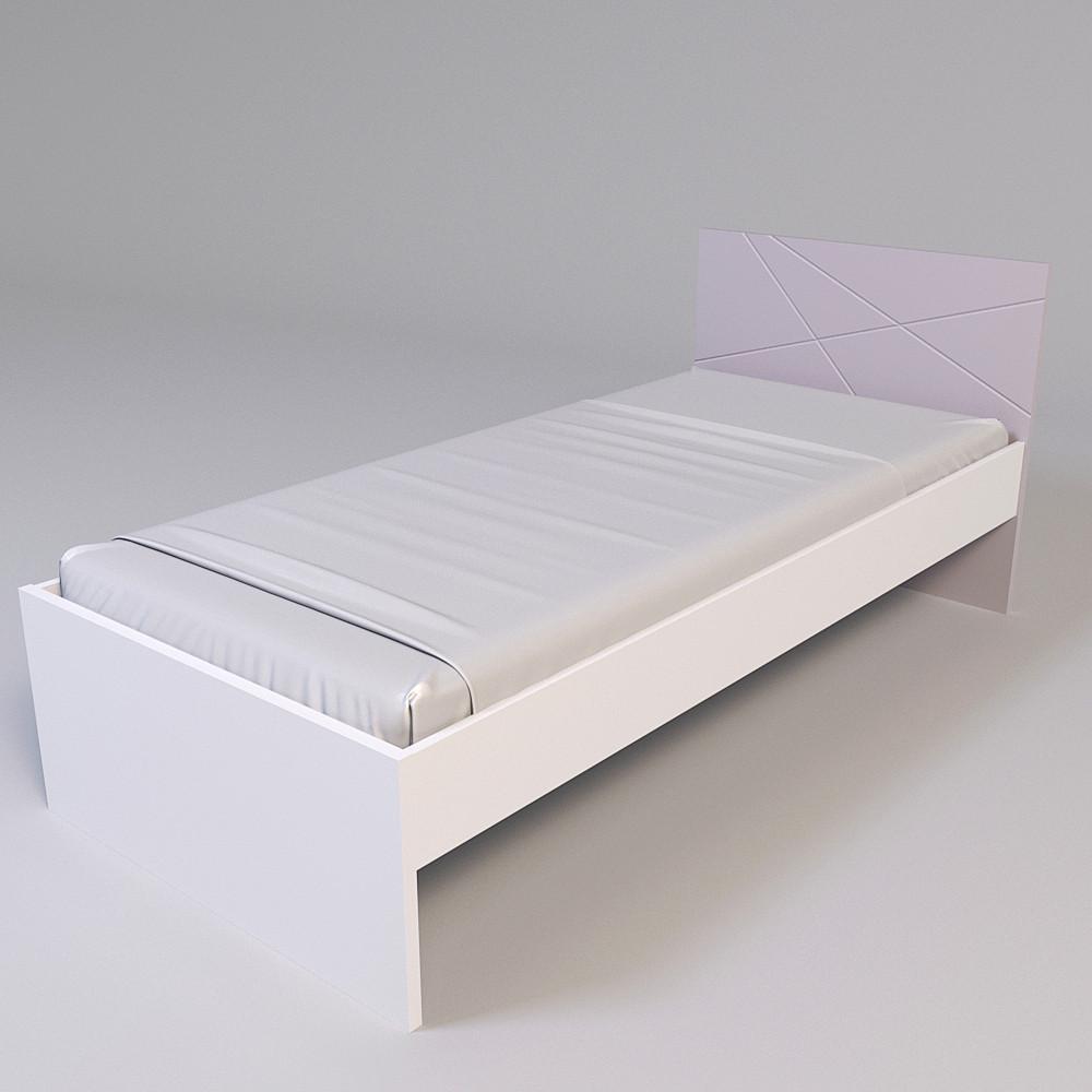 Ліжко Х-Скаут Х-09 (90*200) пудрово-рожевий мат