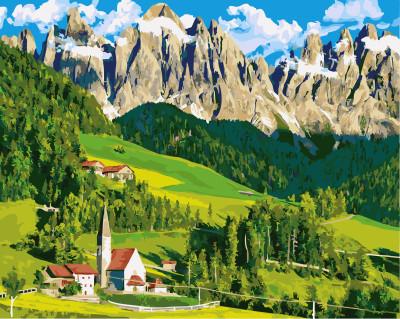 Картина по номерам Весна у подножья гор 40х50 Yarik's (без коробки)