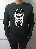 Свитшот мужской зелёный Bad Santa Размер 44