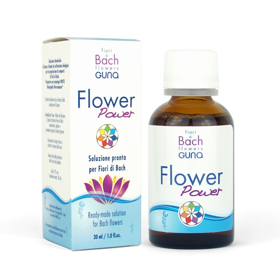 Flower Power. 30 мл. Мастер основа для смешивания Цветов Баха. GUNA (Италия)