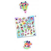Набір фігурних наклейок djeco 30 шт веселка з голограмою (DJ09264), фото 2