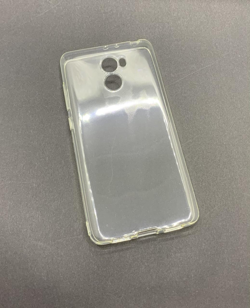 Xiaomi Redmi 4 чехол прозрачный силиконовый  ультратонкий бампер/ накладка