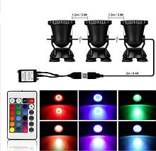 Підводний мультикольорової прожектор з пультом ДУ 36 LED RGB