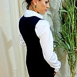 Жилет женский темно-синего цвета, фото 7