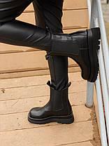 """Зимние ботинки Bottega Veneta Chelsea Mid """"Черные"""", фото 3"""