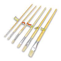 Кисть для нанесения клея и краски натуральная щетина, металлическая колба 4, 6, 8, 10, 12, 18 мм