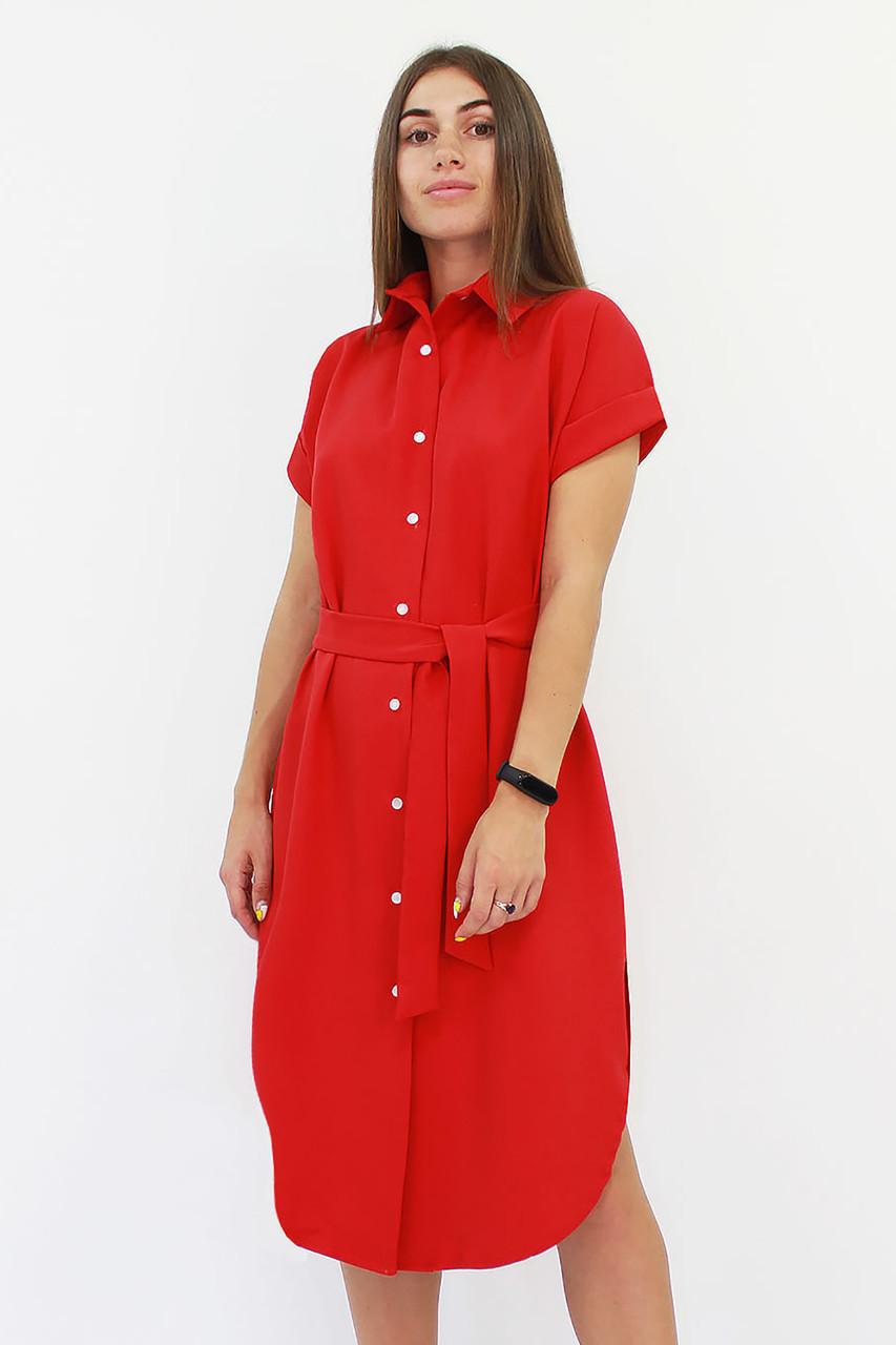 Повседневное платье-рубашка Sandy, красный