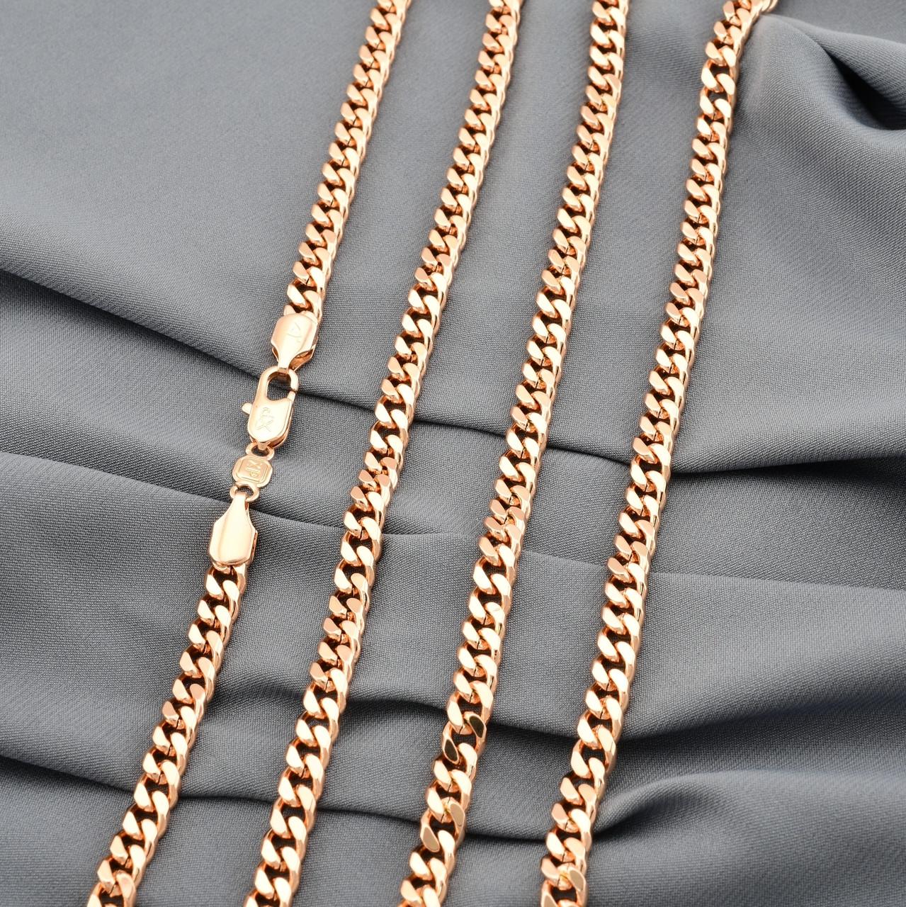 Цепочка Xuping Панцирная 30001 длина 50 см ширина 5 мм вес 29.1 г позолота РО