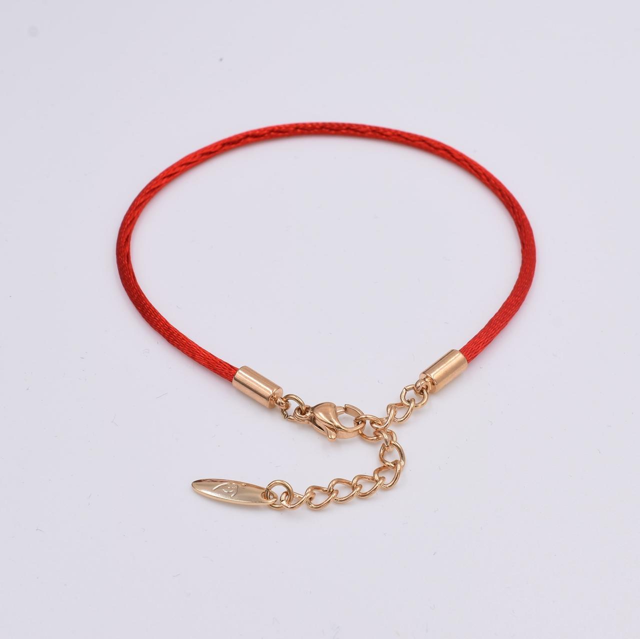 Браслет Xuping красная нить 30201 длина 18+4 см ширина 3 мм вес 2.0 г позолота 18К