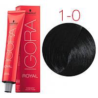 Перманентная крем-краска IGORA ROYAL Naturals, Schwarzkopf Professional 60 мл. 1-0 Черный натуральный