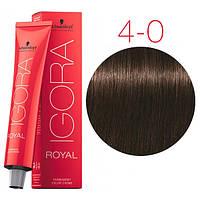 Перманентная крем-краска IGORA ROYAL Naturals, Schwarzkopf Professional 60 мл. 4-0 Средне-коричневый натуральный