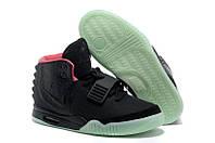 Кроссовки мужские Nike Air Yeezy (в стиле найк) черные