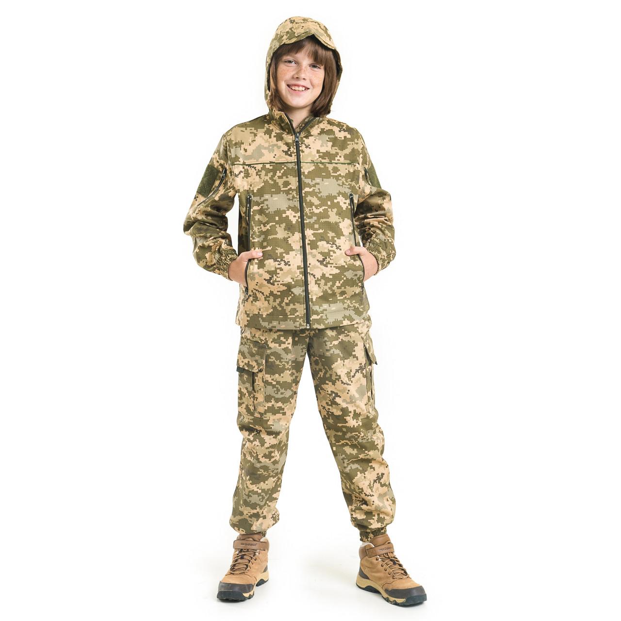 Костюм детский камуфляжный для мальчиков Скаут цвет Пиксель рост 164-170