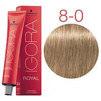 Перманентная крем-краска IGORA ROYAL Naturals, Schwarzkopf Professional 60 мл. 8-0 Светло-русый натуральный