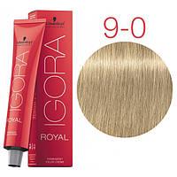 Перманентная крем-краска IGORA ROYAL Naturals, Schwarzkopf Professional 60 мл. 9-0 Экстра светлый блондин натуральный