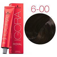 Перманентная крем-краска IGORA ROYAL Naturals, Schwarzkopf Professional 60 мл. 6-00 Темно-русый натуральный экстра