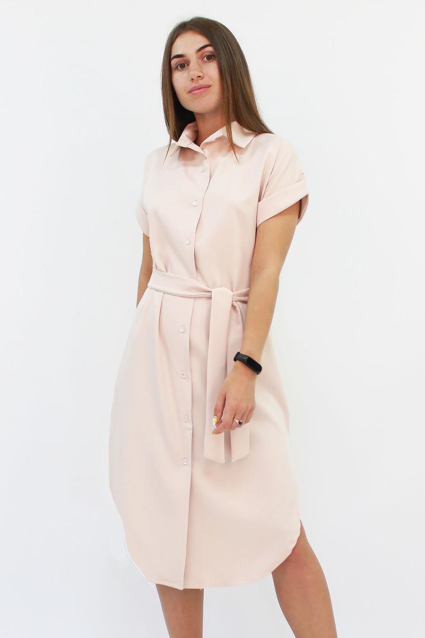 Повседневное платье-рубашка Sandy, бежевый