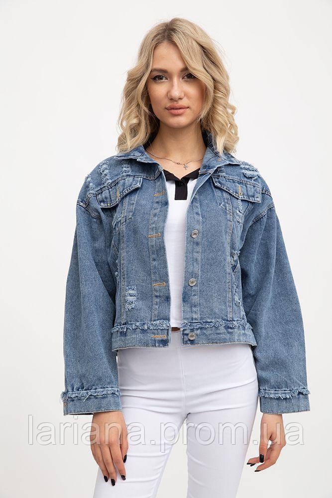 Джинсовая куртка жен 131R8503 цвет Синий