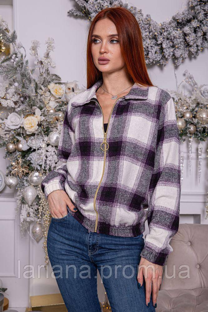 Рубашка женская 119R1420 цвет Бело-фиолетовый