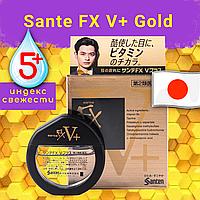 [Оригинал] Sante FX V+ японские капли для глаз от сухости усталости покраснений освежающие витамин