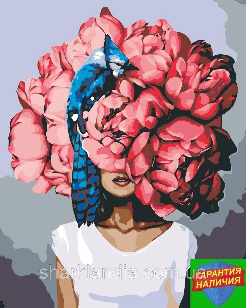 Картина по номерам Красные пионы Эми Джадд +Лак 40*50см Барви Девушка с пионами