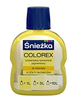 Барвник COLOREX 12 жовтий сонячний 100мл