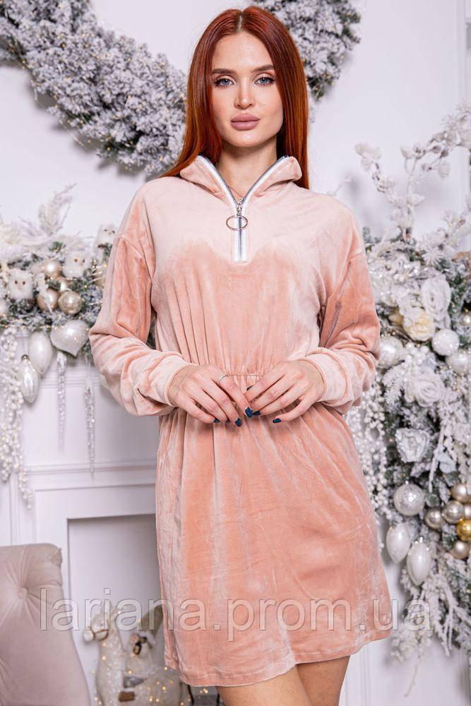 Платье женское 112R466 цвет Пудровый