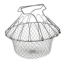 Складная решетка дуршлаг Chef Basket Magic Kitchen Хром (R0597)