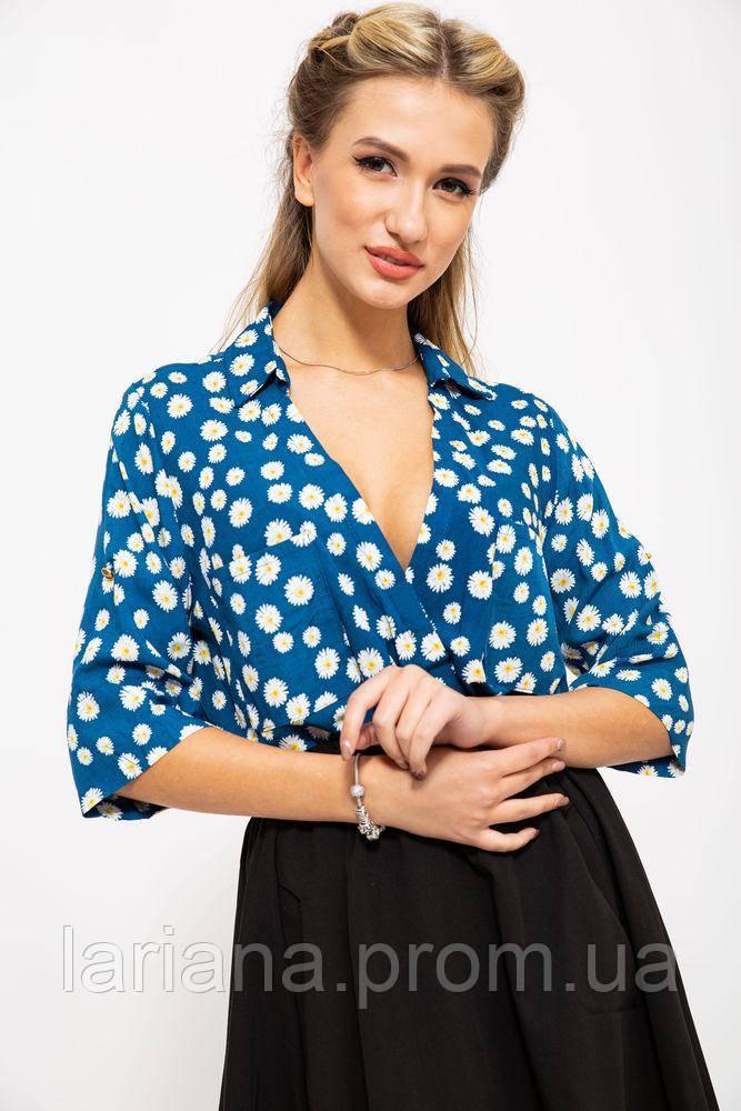 Блузка 115R222-9 цвет Синий