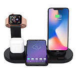 Док-станція 4в1 10 Вт. для iPhone, Samsung, Xiaomi, Apple Watch, AirPods, фото 3