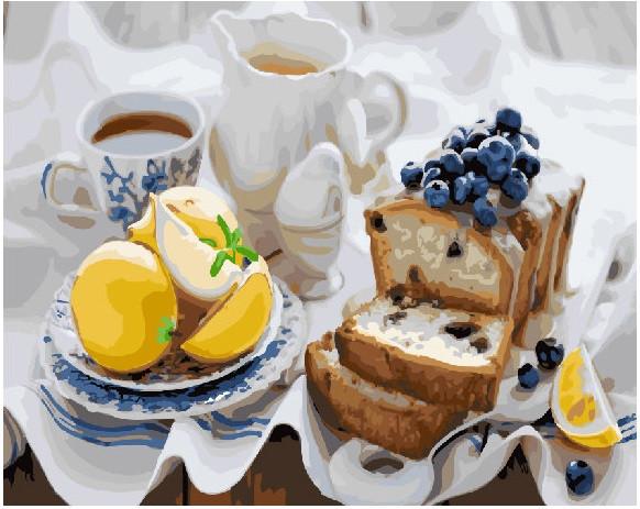 Картина по номерам Кекс к чаю 40х50 Yarik's (без коробки)