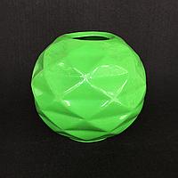 Ваза для декору Куля з гранями (Зелений)