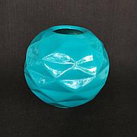 Ваза для декору Куля з гранями (Блакитний)