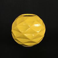 Ваза для декору Куля з гранями (Жовтий)