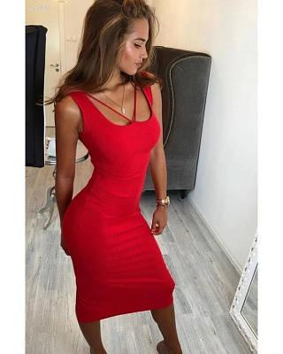 Женское платье миди летнее