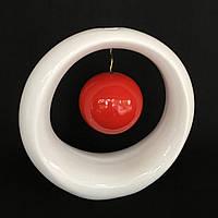 Ваза для декору Орбіта (Червоно-білий)