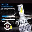 Светодиодные LED лампы в фары автомобиля H4 ближний/дальний свет, Светодиодная лед лампа COB 6000K 8-48V, фото 3