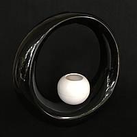 Ваза для декору Орбіта 2 (Біло-чорний)