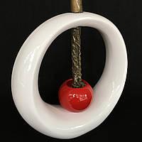 Ваза для декору Орбіта 2 (Червоно-білий)