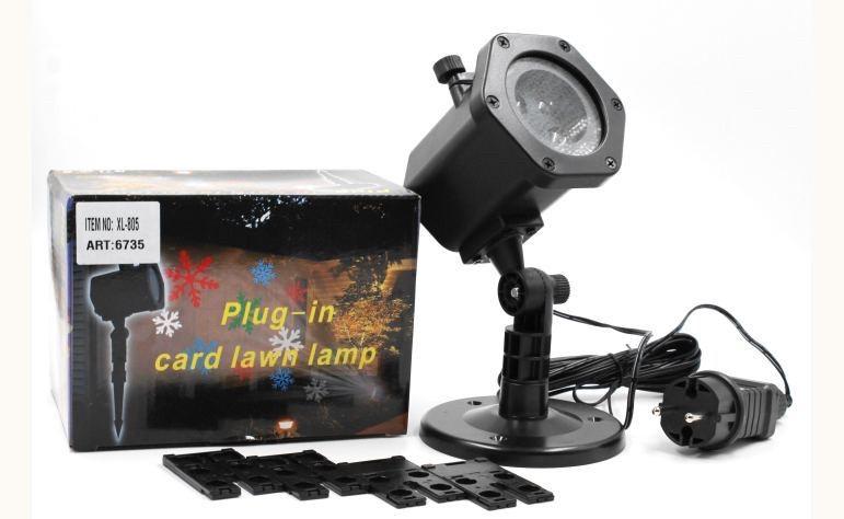 Уличный лазерный проектор Plug in card lawn lamp (большой)