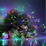 Электрическая гирлянда Роса на батарейках 30 LED, 3 м, мульти, фото 2