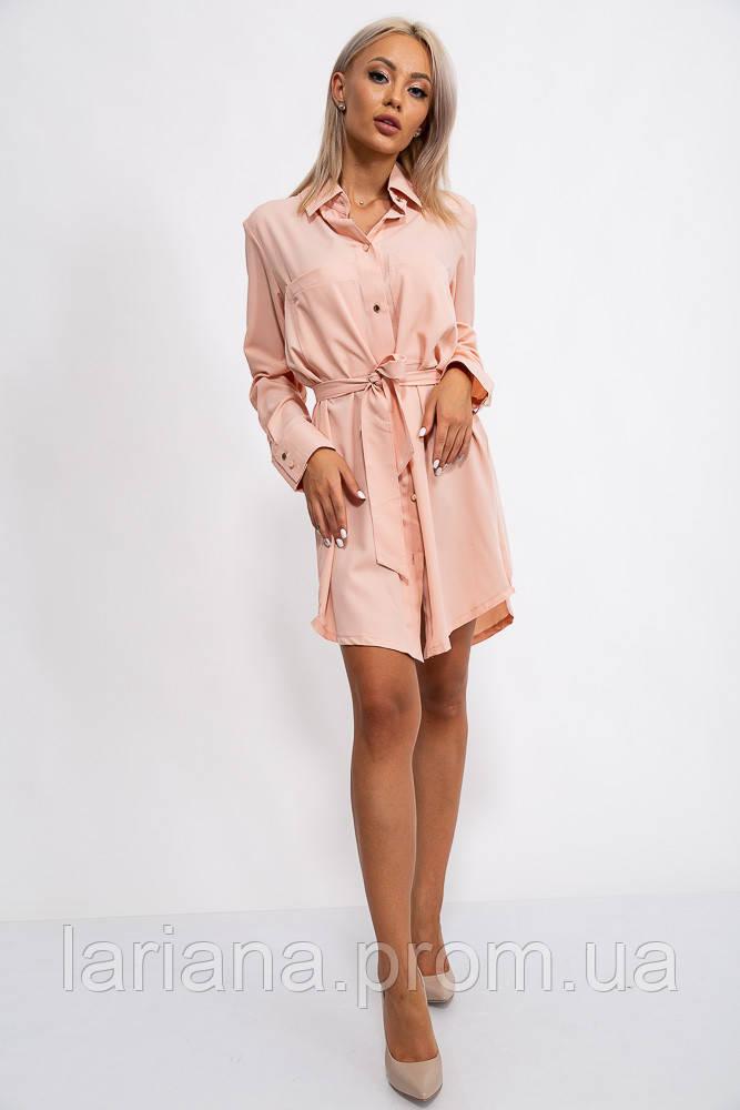 Платье-рубашка 102R043 цвет Персиковый