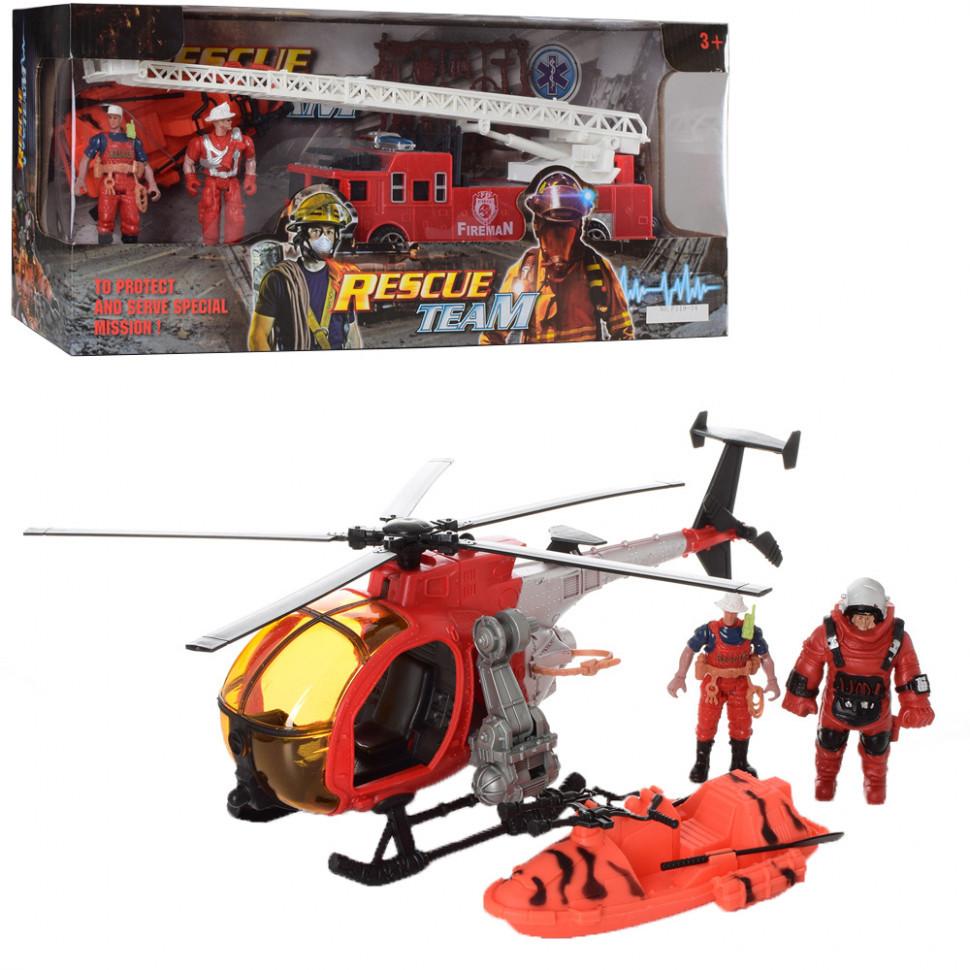 Игровой набор спасателей F119-32 Вертолет и лодка