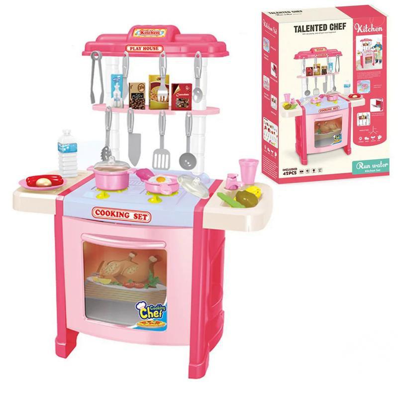 Детская игрушечная кухня 922-15A Розовый