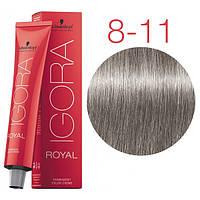 Краска для волос IGORA ROYAL Cendre, Schwarzkopf Professional 60 мл 8-11 Светло-русый Сандре экстра