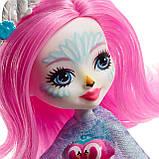 Кукла энчантималс Лебедь, Enchantimals Saffi Swan, Лялька Лебідь Енчантімалс, фото 6
