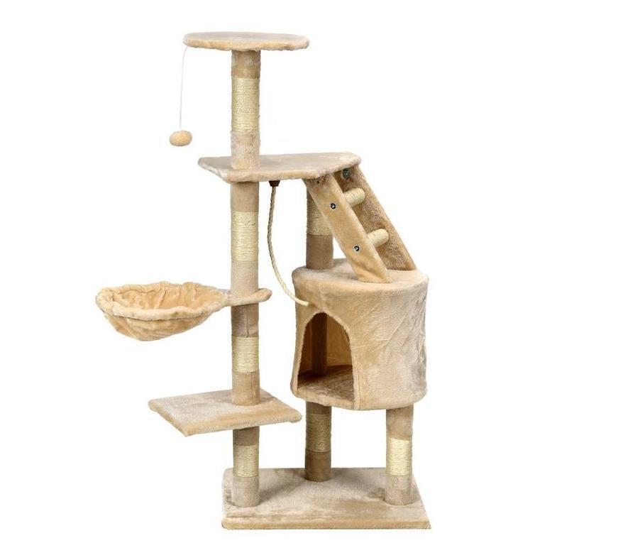 Когтеточка для кота домик комплекс дряпка лежанка для кошек FunFit Buffy Бежевая 41607