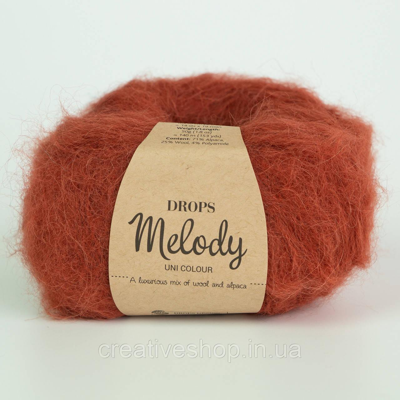 Пряжа Drops Melody (колір 19 brick)