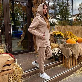 Женский спортивный костюм кенгуру бежевый, фото 2