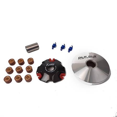 Вариатор передний Suzuki Address 100 (тюнинг) (ролики латунь 9шт, палец, пружины сцепления) DLH, фото 2